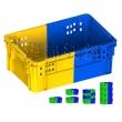 K269-都程双色塑料箱