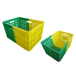 K203超市物流双色物流箱