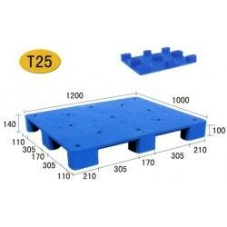T25-九脚平板塑胶栈板(1210)
